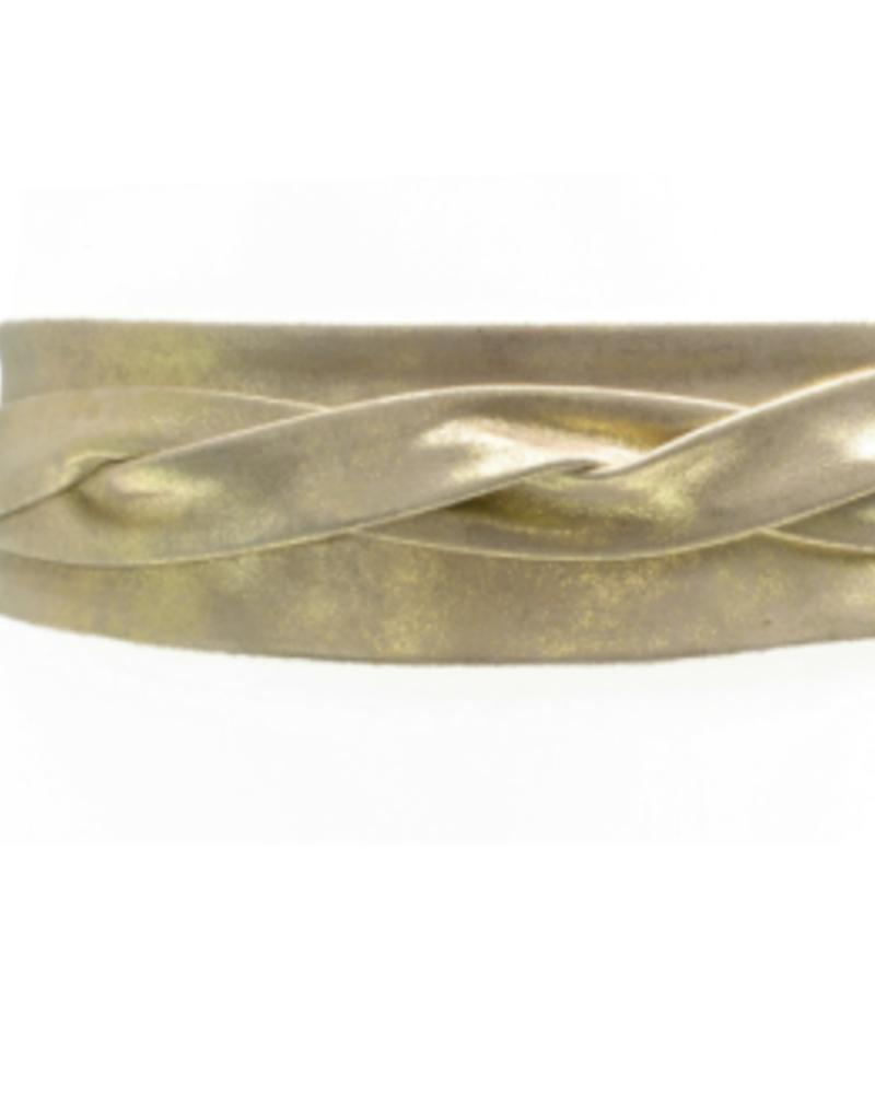 Ada Wrap leather belt, Gold