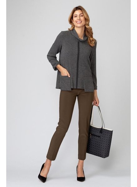 Joseph Ribkoff Pocket-accented cowl neck sweater