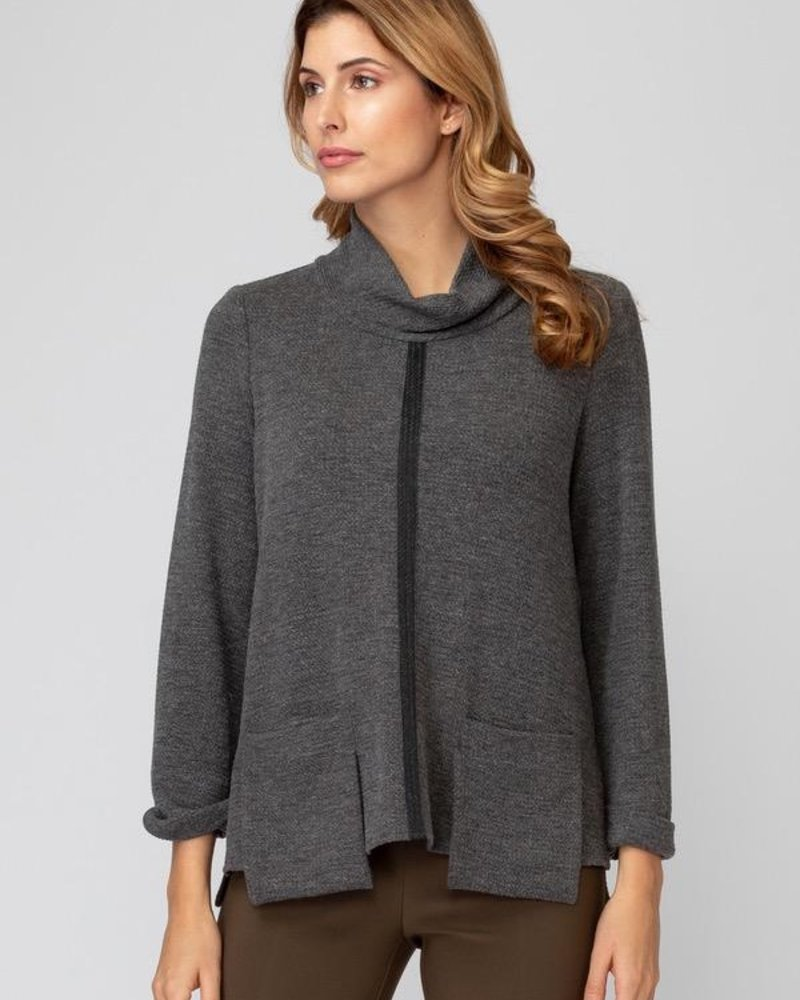 Joseph Ribkoff Pocket-accented cowl neck sweater