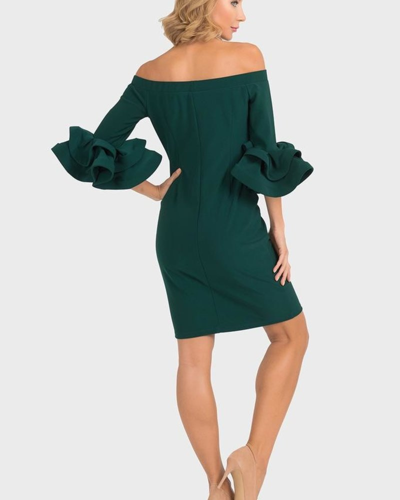 Joseph Ribkoff Off shoulders bell sleeves dress