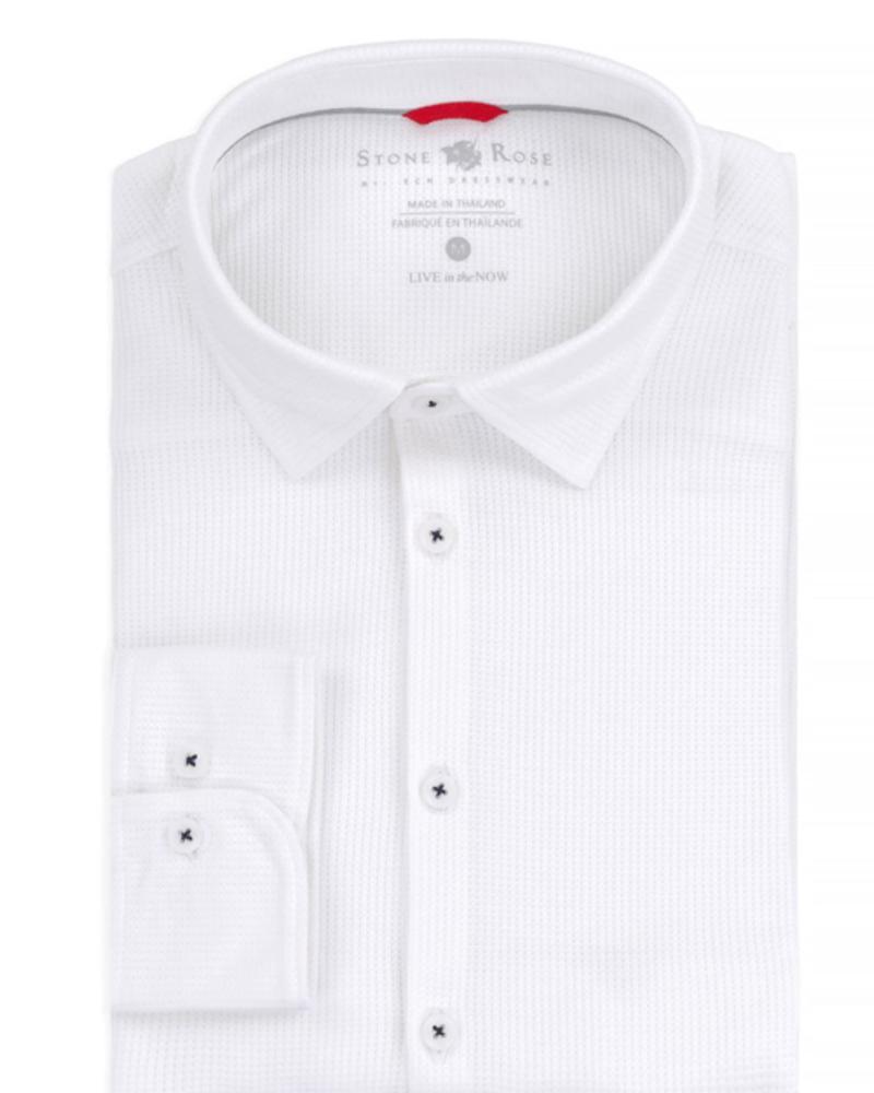 Stone Rose Waffle Knit Performance Long Sleeve Shirt