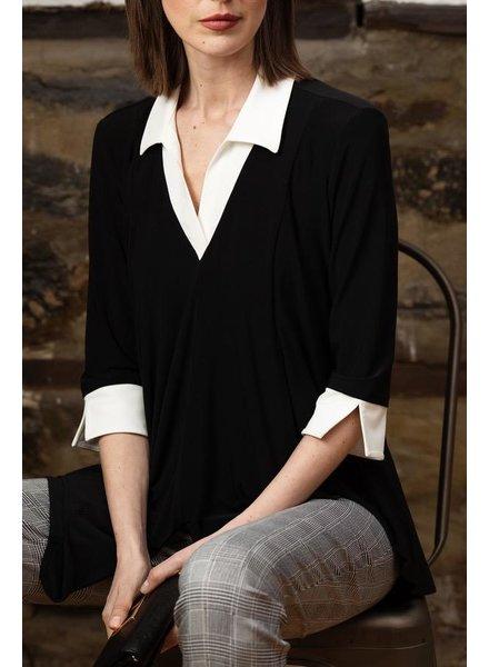 Joseph Ribkoff Classic collar casual top