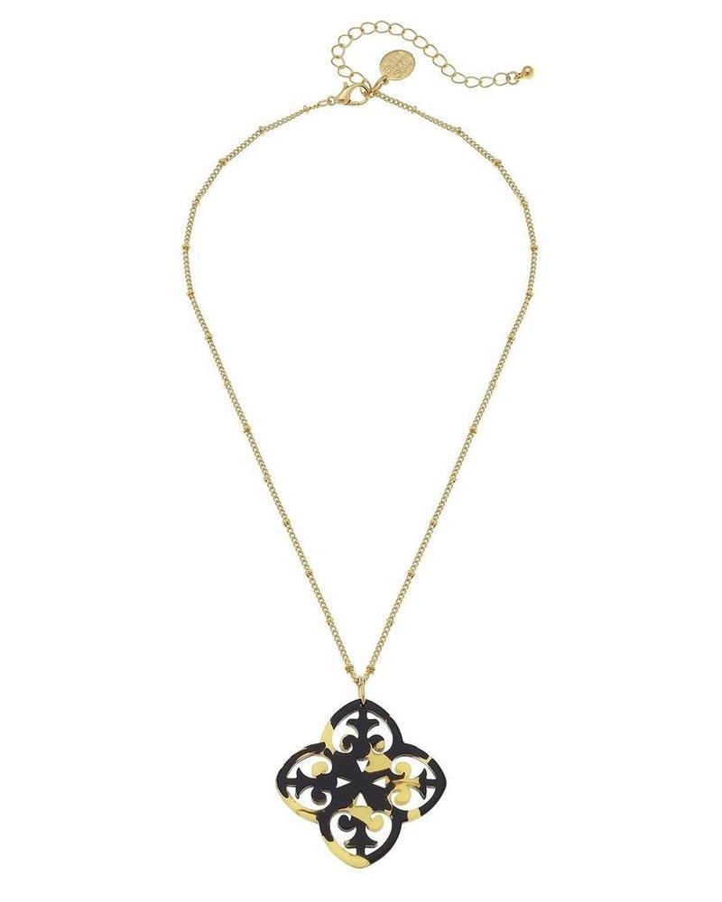 Susan Shaw Tortoise Clover Necklace