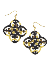 Susan Shaw Tortoise Filigree Earrings