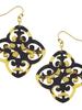 Susan Shaw Tortoise Filigree Earrings