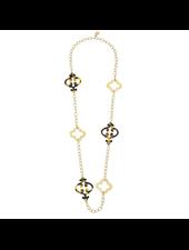 verdigris Clover & Tortoise Necklace
