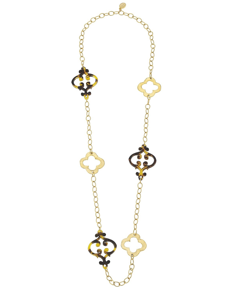 Susan Shaw Clover & Tortoise Necklace