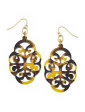 Susan Shaw Tortoise Swirl Cut Out Earrings
