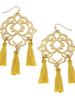 Susan Shaw Filigree Tassel Earrings