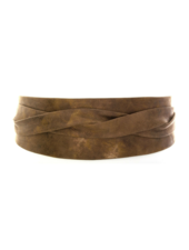 Ada Wrap leather belt, Truffle Bronze