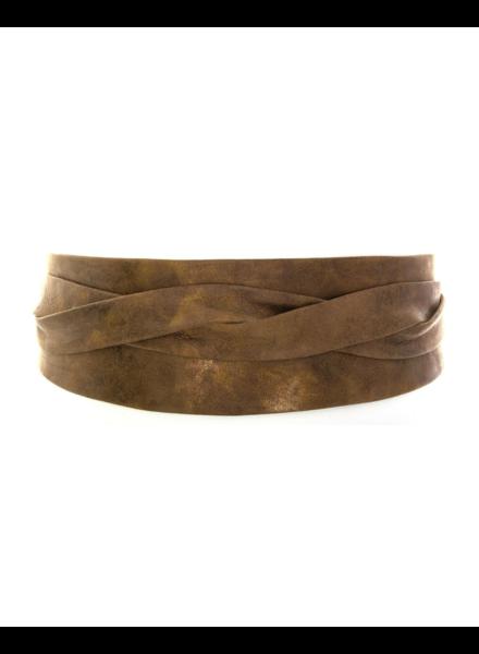 Ada Wrap leather belt, Truffle Bronze