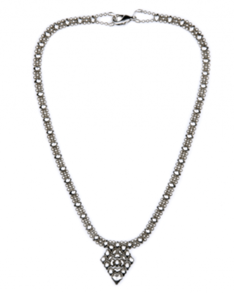 Liquid Metal Classic mesh liquid metal necklace