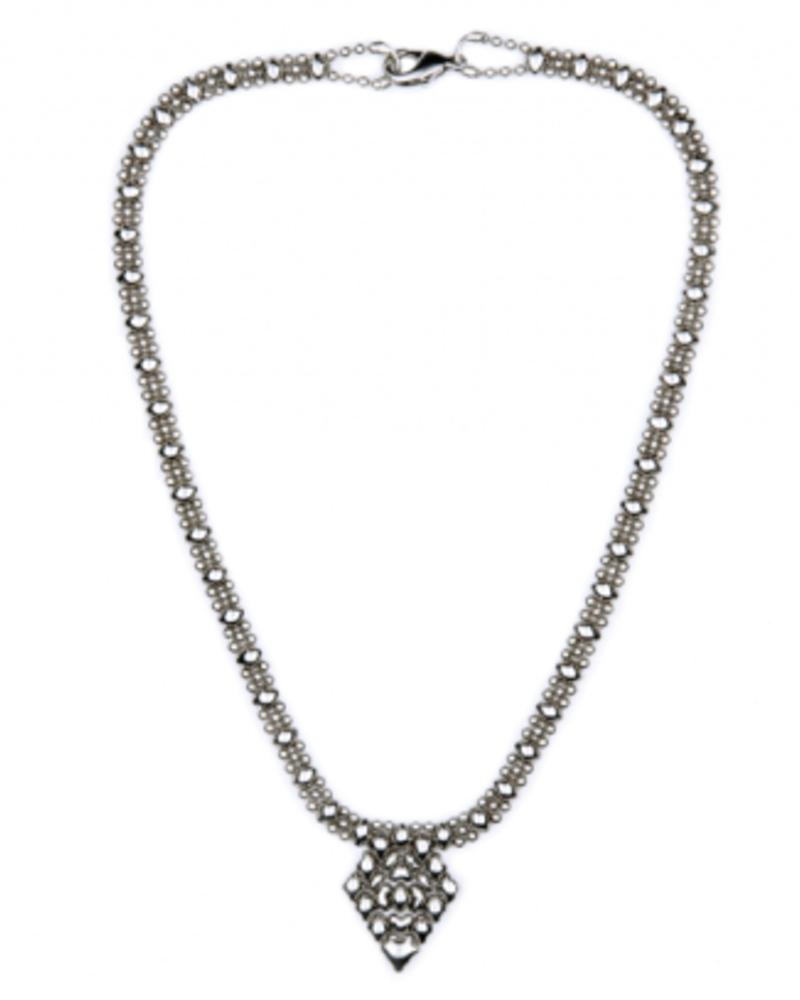 Liquid Metal Classic mesh liquid metal necklace