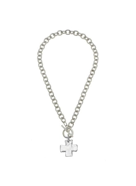 Susan Shaw Cross Toggle Necklace