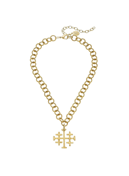 Susan Shaw Multi Cross Chain Necklace