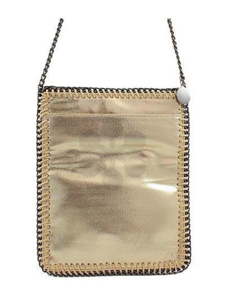 verdigris Chain Trim Crossbody Bag