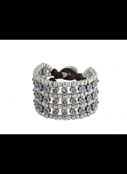 Vidda Sitara Bracelet, Denim Blue Crystal