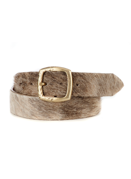 BRAVE CAI HAIR-ON LEATHER BELT