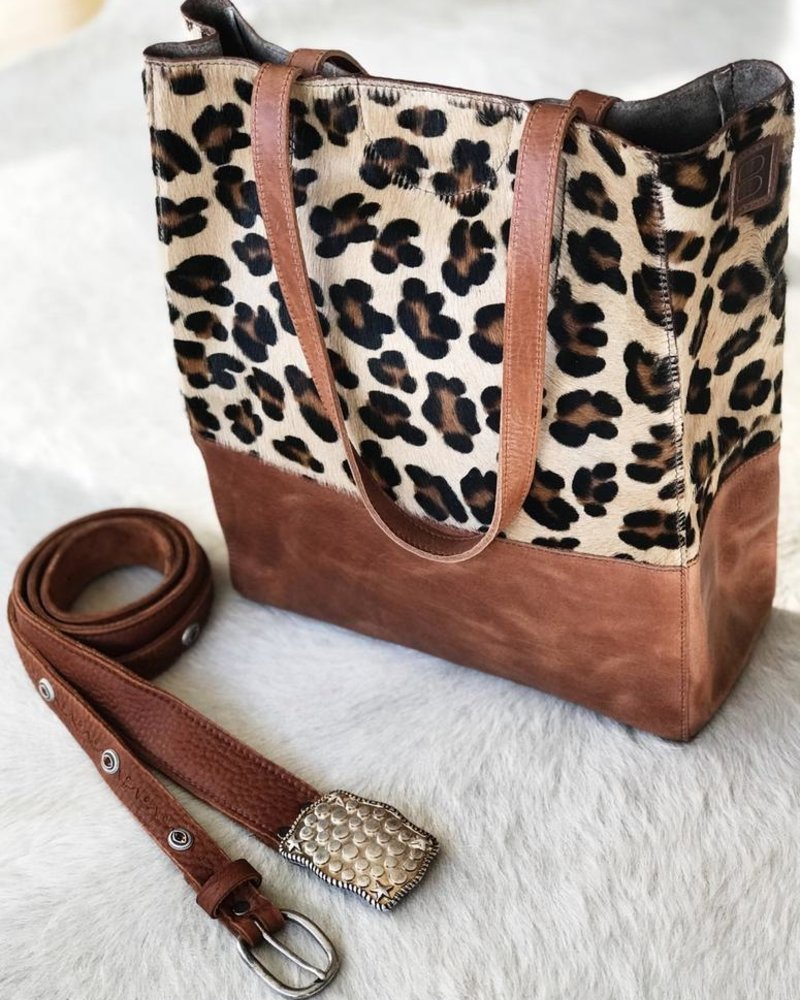 BRAVE SALOSO LEOPARD LEATHER TOTE