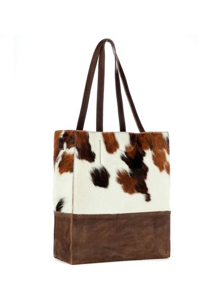 BRAVE SALOSO TOTE IN NATURAL COW