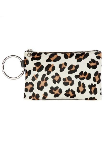 BRAVE VICE CLUTCH IN WHITE LEOPARD