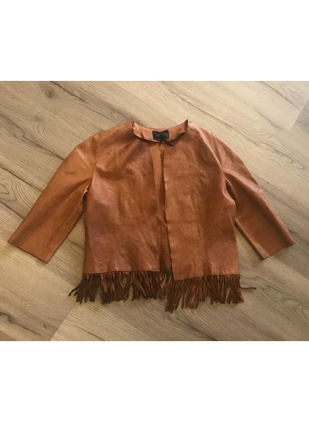 Short Fringe leather jacket