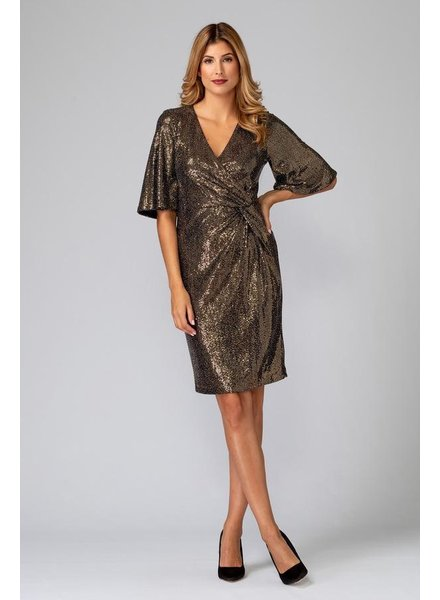 Joseph Ribkoff Wrap Sequin Dress
