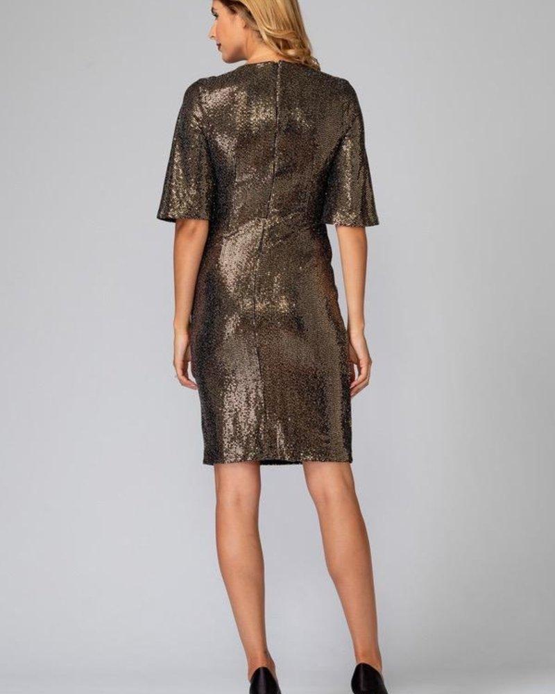 Joseph Ribkoff Wrap Sequin Dress