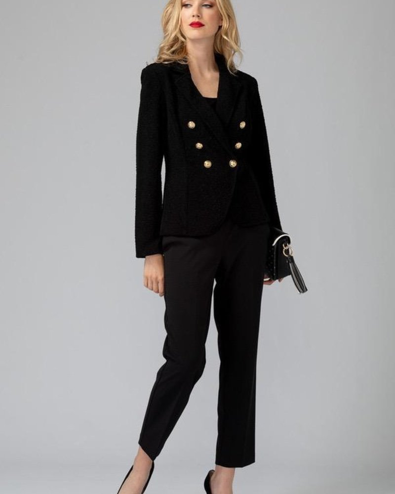 Joseph Ribkoff Buttons and a cinched waist jacket