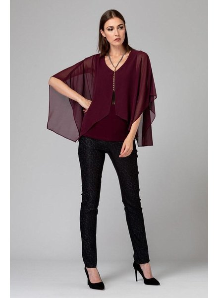 Joseph Ribkoff Asymmetrical batwing sleeves blouse