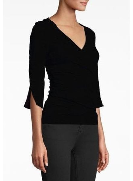 Nicole Miller 3/4 Sleeve, cotton metal top