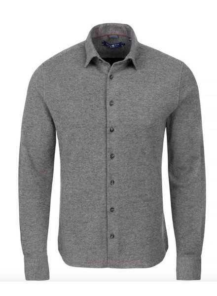 Stone Rose Melange Knit Long Sleeve Shirt