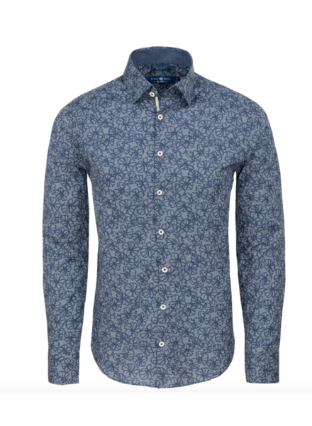 Stone Rose Floral Print Long Sleeve Shirt