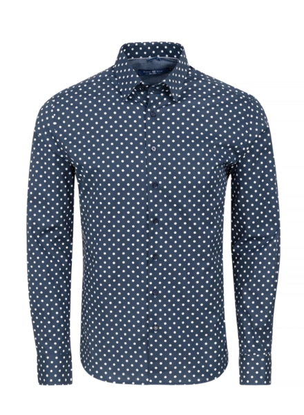 Stone Rose Polka Dot Print Long Sleeve Shirt
