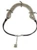 verdigris Mara Adjustable silver necklace