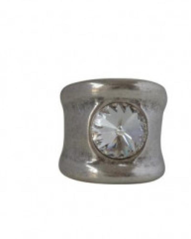 verdigris Luz Ring, Crystal Swarovski