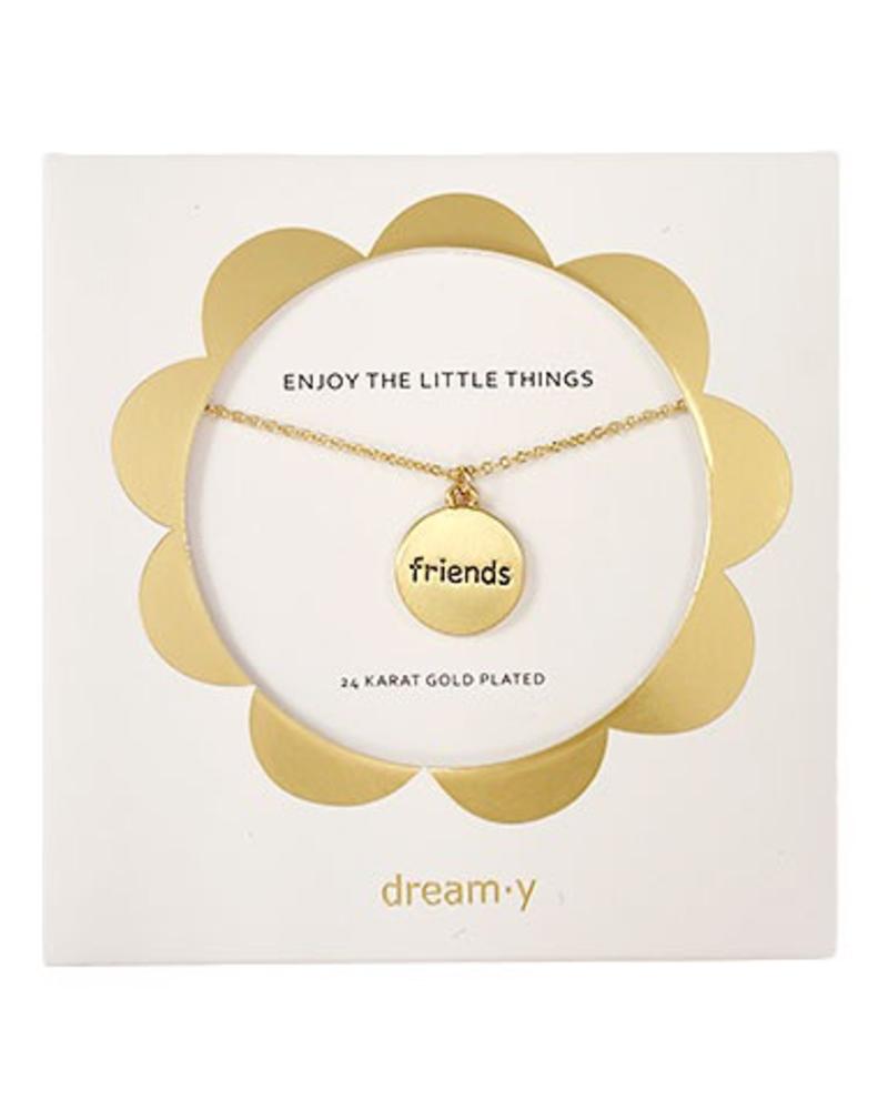"verdigris Enjoy the little thing "" Friends"" Necklace"
