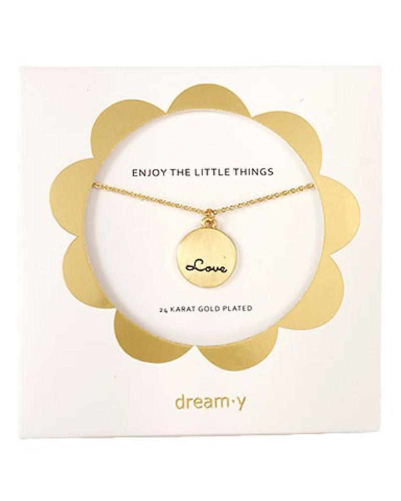 "verdigris Enjoy the little things"" Love"" necklace"