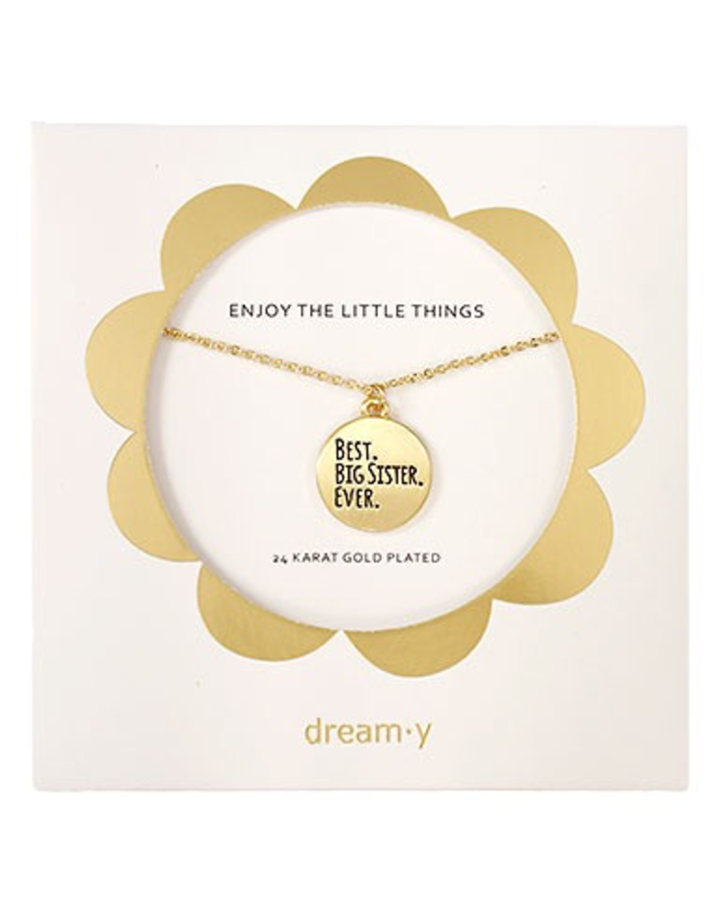 """verdigris Enjoy the little things """"BEST BIG SISTER EVER"""" Necklace"""