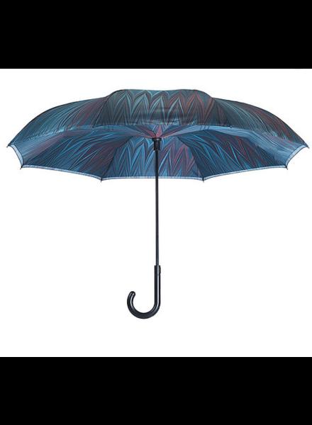 verdigris Midnight Stick Umbrella Reverse Close