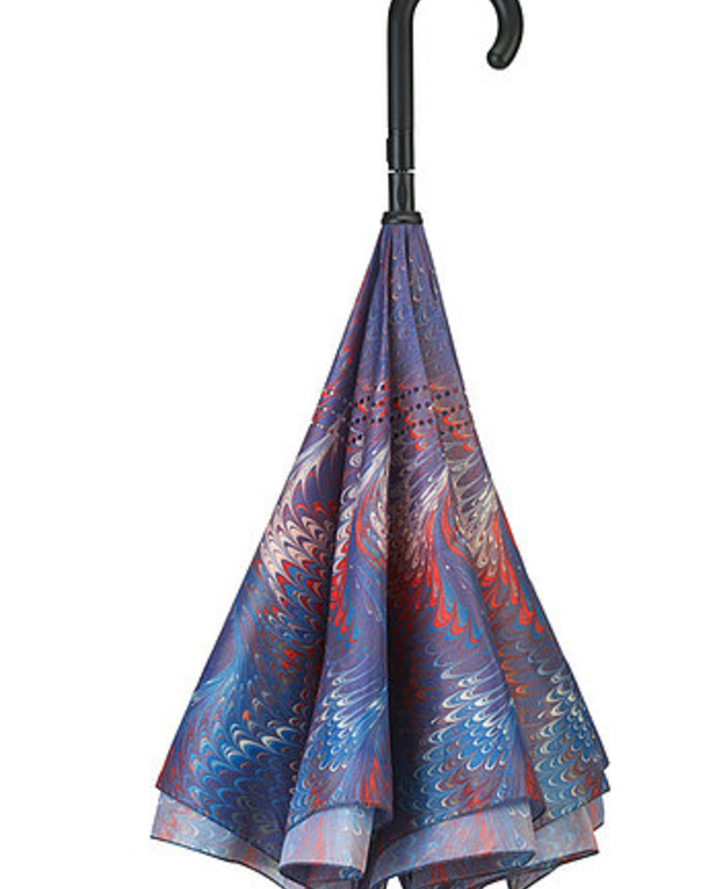 verdigris Hollyhill Stick Umbrella Reverse Close