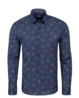 Stone Rose Chicken Print Long Sleeve Shirt