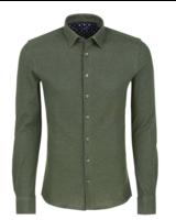 Stone Rose Oxford Knit Long Sleeve Shirt