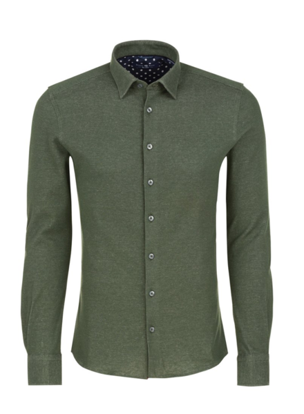 Stone Rose Oxford Knit Long Sleeve Shirt