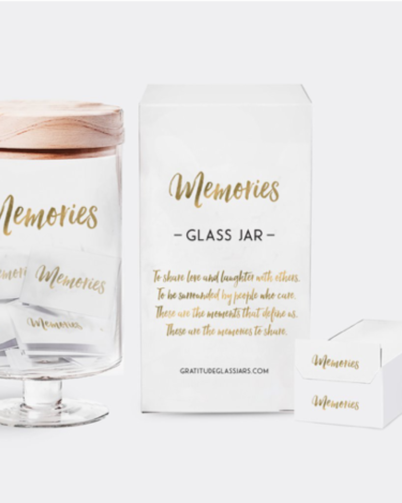 verdigris Memories Glass Jar