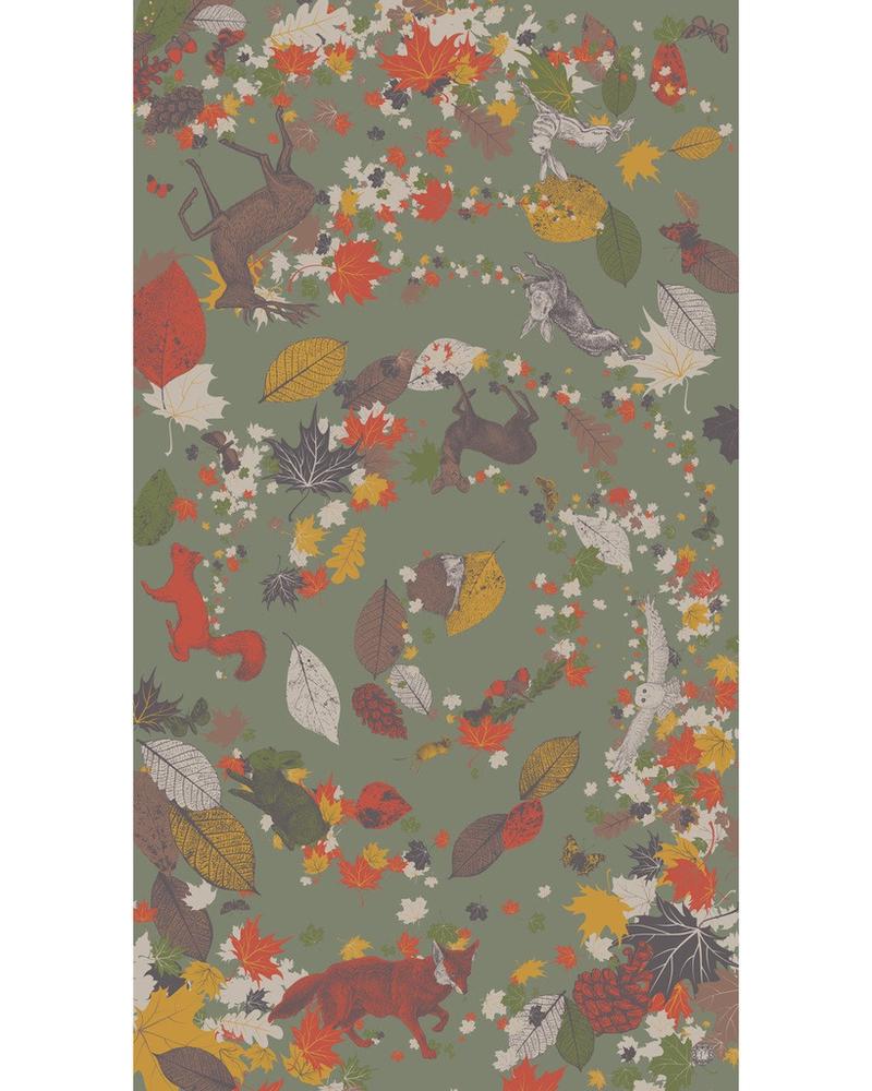 verdigris Autumn Chums Print