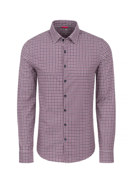Stone Rose Check Knit Performance Long Sleeve Shirt