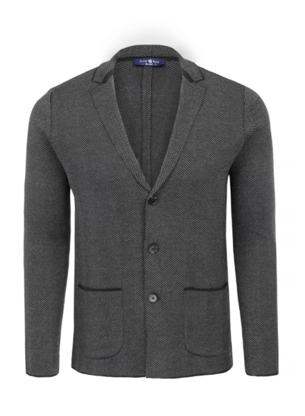 Stone Rose Herringbone Knit Deconstructed BlazeR