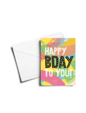 verdigris BIRTHDAY CARD: HAPPY BDAY - MULTICOLOR TEXTURE