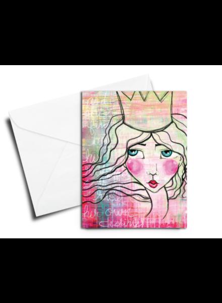 verdigris GREETING CARD: QUEEN RULER OF HER OWN DESTINY